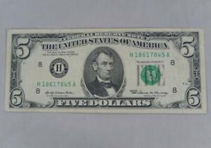 Series 1969 $5 Five Dollars Federal Reserve Note FRN H St Louis P0348