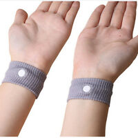 2XAnti Nausea TravelSickness  Bands Korjo Motion Sea Plane Car Sick Wristbands*F