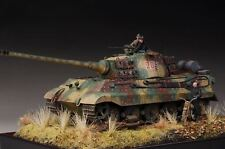 Award Winner Built 1/35 Ardennes Front Diorama Peiper's King Tiger 204 +Bike