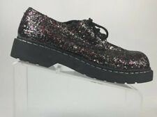 T.U.K. Anarchic Creepers Women's US 11 Glitter Shoes