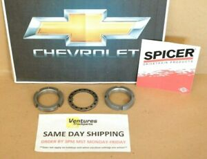 Front Spindle Nut Kit 10 Bolt, Dana 44 Chevy K5 K10 K20 73-91 OEM Spicer