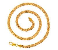 Herren Damen Gelbgold Panzerkette Halskette Echt 999er Gold 24K vergoldet 55 cm
