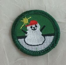 Retired Girl Scouts Junior Badge Patch~2000-2011~Frosty Fun