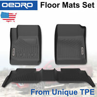 All-Weather Floor Mats Liners for 2015-2020 Chevy Colorado/GMC Canyon Crew Cab