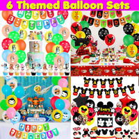 Cake Topper, Balloons for Kids Birthday Theme Party Baby Shower School Party Set