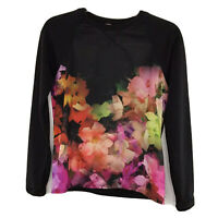 Ted Baker London Size 1 Lanie Cascading Floral Sweatshirt XS Black Multicolor