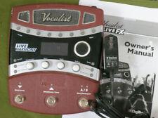 Digitech Vocalist Live FX VLFX VL-FX Harmony vocal effects processor pedal