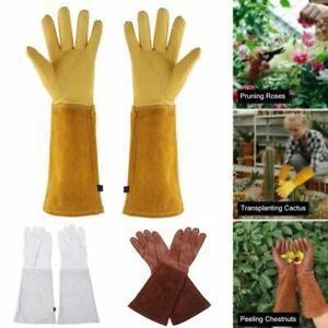 1 Pair Heavy Duty Gardening Rose Pruning Gauntlet Gloves Thorn Proof Long Sleeve