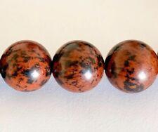Mahogany Obsidian Bead Bracelet