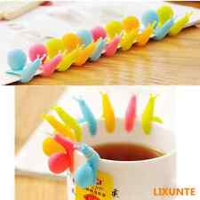 5PCS Silicone Glass Cup Markers Snail Wineglass Label for Hanging Tea Bag Holder