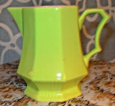 Vintage Lime Green Creamer Small Pitcher Independence Japan Ironstone