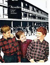 PUBLICITE ADVERTISING 037  1964  Noveltex chemises enfant idole de la rentrée