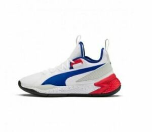 192776-01 Puma Uproar Palace Guard Basketball Shoes White/Red/Blue