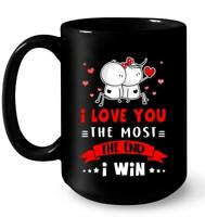 I Love You More I Win Lover Couple Coffee Mug Funny Coffee Cup Gift For Men W...