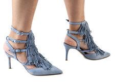 Authentic Nando Muzi Italian Designer Leather Shoes Sizes 5,6,7,8,9,10,11 Blue