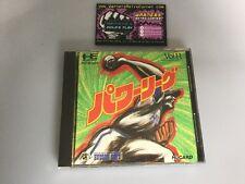 Power League Baseball Pc Engine GT LT  JP Japan Boxed W/ Manual Good Cond