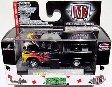 M2 MACHINES WC11 WILD CARDS 1958 GMC SUBURBAN CARRIER BLACK With FLAMES