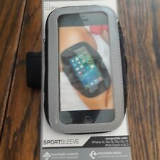 Lifeworks Sport Sleeve for iPhone 4/4s/5/5s/5c-6 Ipod touch 4 &5 Black/Silver