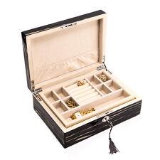 "Bey-Berk Lacquered ""Ebony"" Wood Jewelry Box"