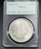 1883 O Morgan Silver Dollar Coin PCGS MS64 OGH Rattler Style Holder Mostly Unton