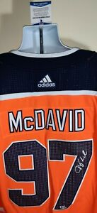 Connor McDavid Edmonton Oilers Autographed Signed Adidas Jersey Beckett Certed