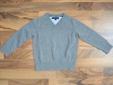 Tommy Hilfiger Pullover Pulli Junge Gr.: 4 104 Uni grau Sweatshirt edel w. NEU