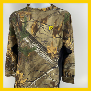 Scent Blocker Layer Shirt Mossy Oak Country Realtree Edge YOUTH L #A6
