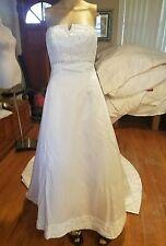 Mori lee by madeline gardner wedding dress size 2 white with sheer wrap
