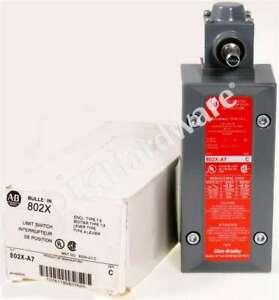 New Allen Bradley 802X-A7 /C Oiltight Limit Switch Lever Type NEMA 4/13 CW/CCW