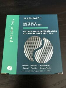 Patchology Flashpatch Restoring Night Eye Gels 5-Pack, New in Box