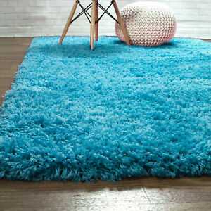 Super Soft Solid Shag Rug Washable Skid & Slip Resistant Area Rugs 2x3 to 8x10