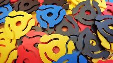 "Plastic 45 rpm 7"" Record Insert Adapters Made In U.S.A. - Brand New 5 Colours"