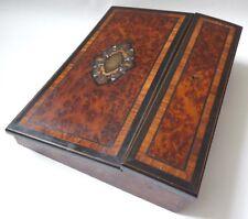 écritoire en bois marqueterie loupe 19e siècle Napoléon III Writing desk
