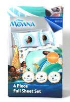 Jay Franco & Sons Disney Moana 4 Piece Microfiber 100% Polyester Full Sheet Set