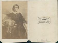 Rosa Bonheur CDV vintage albumen. Tirage albuminé  6,5x10,5  Circa 1870  <