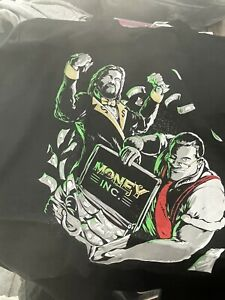 Money Inc. (Ted Dibiase & IRS) 'Pay Up' T-Shirt 2XL Pro Wrestling Crate WWE