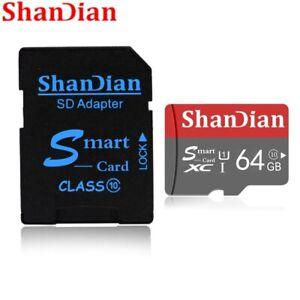 SHANDIAN Smart SD Card 32GB High Speed Class 10 16GB/64GB Real Capacity 128GB Mi