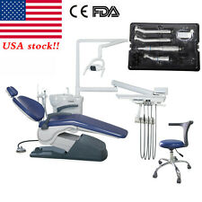 Dental Unit Chair Computer Controlled Hard Leather Chair Stools Handpiece Kit