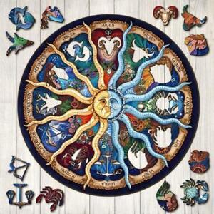 Zodiac Wooden Puzzle Unique Shape Pieces Gift for Adults and Kids 2021 AU