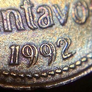 ARGENTINA 5 Centavos, 1992 - Doubled Die Reverse (DDR)