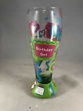 Lolita Pilsner Glass Birthday Girl Hand Painted