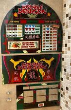 "Bally ""Double Dragon"" Slot Machine Glass 3 Pc. Set w/Eproms FAST FREE SHIP! Z-2"