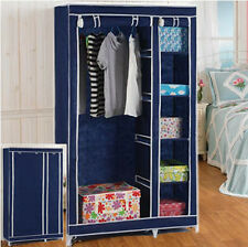 5 Shelves Brand New Easy to assemble Portable Wardrobe Large Space Storage Blue