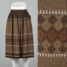Xs Deadstock 1980s Lord and Taylor Brown Skirt Vtg Bohemian Hippie Style