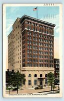 Minneapolis, MN - c1917 VIEW OF ATHLETIC CLUB & OLD CARS - POSTCARD - M7