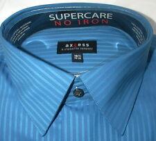 NWT 16.5 34/35 CLAIBORNE AXCESS 100% Cotton SUPERCARE DRESS SHIRT Blue $48