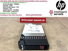 HPE MSA 10TB 12G SAS 7.2K LFF (3.5in) Midline 512e Hard Drive - P9M82A