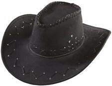 CAPPELLO COWBOY NERO texano camperos feste party scamosciato