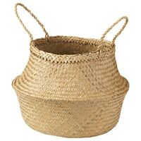 IKEA FLÅDIS Fladis Basket Seagrass 25 cm Handmade Woven Storage Decor
