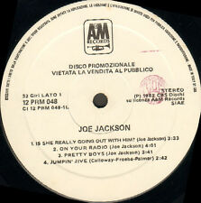 JOE JACKSON - On Your Radio - Steppin Out - Pretty Boys -Blanco A&M - 12 PRM 048